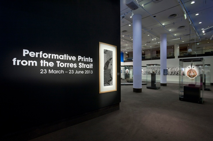 Performative Prints from the Torres Strait Exhibition[Photograph by Mark Ashkenasy 2013]