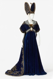 Costume worn by a chorus member in Camelot, J.C. Williamson Theatres Ltd, 1963. Designed by John Truscott. Purchased, 2013. Arts Centre Melbourne, Performing Arts Collection. Photograph by Jeremy Dillon.