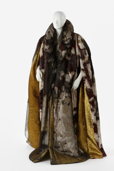 Cloak worn by John Nobbs as Banquo in The Chronicle of Macbeth, Playbox Theatre, 1992. Designed by Tadashi Suzuki. Gift of the Playbox Theatre, 1997. Arts Centre Melbourne, Performing Arts Collection. Photograph by Jeremy Dillon.