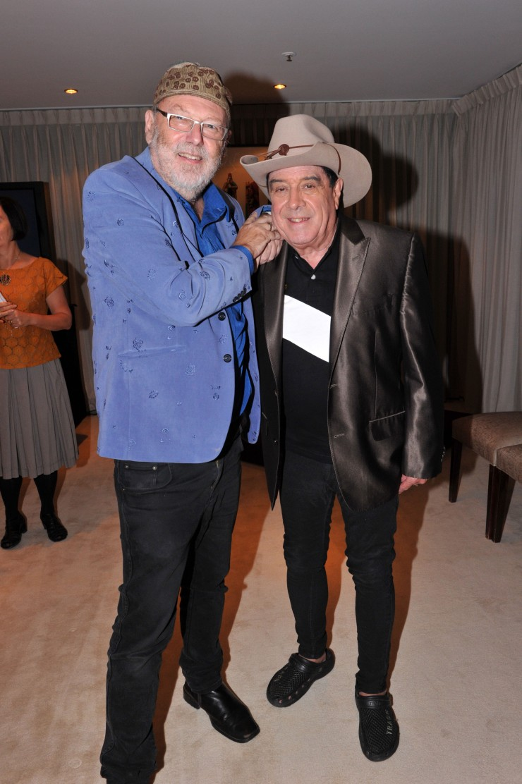 Guests of honour, Glenn A. Baker and Molly Meldrum. Photograph by Jim Lee