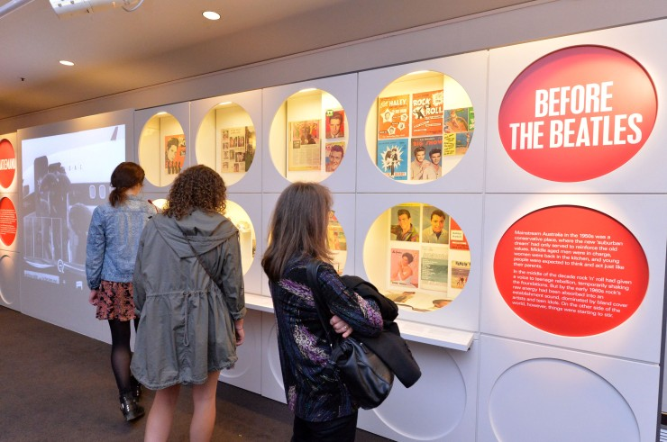 The Beatles In Australia exhibition, Arts Centre Melbourne. Photograph by Jim Lee