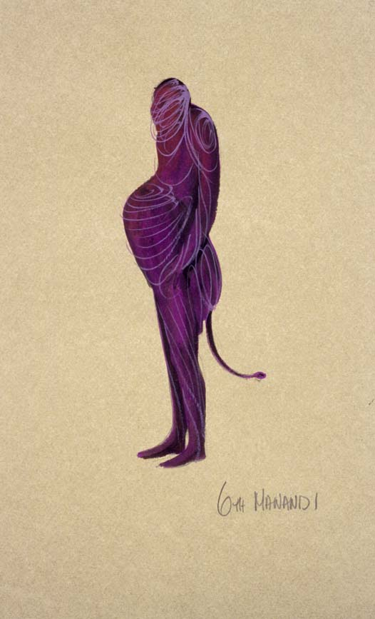 Costume design by Anne Fraser for the 1981 Melbourne Theatre Co. production of Pete McGynty and the Dreamtime at the Athenaeum Gift of Anne Fraser, 1996 Performing Arts Collection, Arts Centre Melbourne