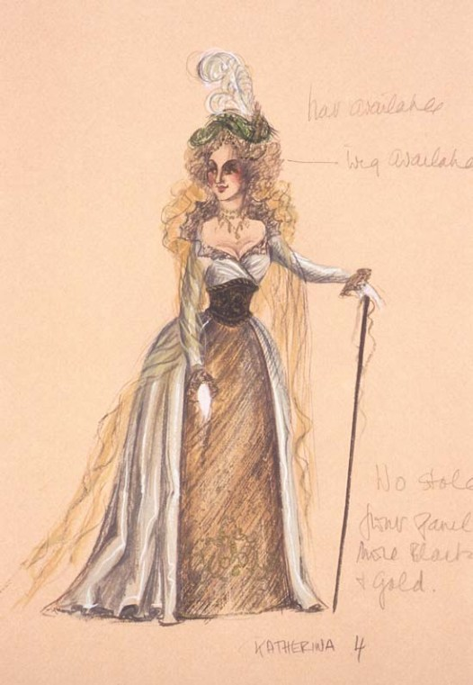 Costume design from the 1981 Melbourne Theatre Company production at the Athenaeum Theatre, Melbourne. Gift of Anne Fraser, 1996 Performing Arts Collection, Arts Centre Melbourne