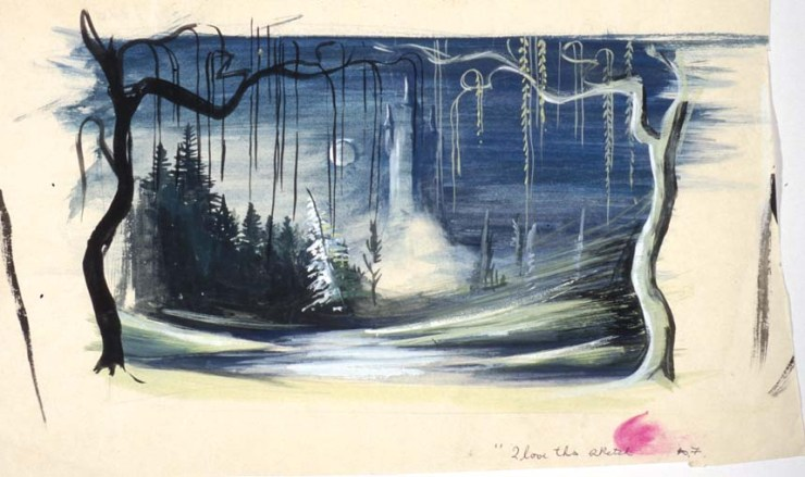 Set design for Swan Lake, Borovansky Ballet, 1957 Gift of Anne Fraser, 1996 Performing Arts Collection, Arts Centre Melbourne
