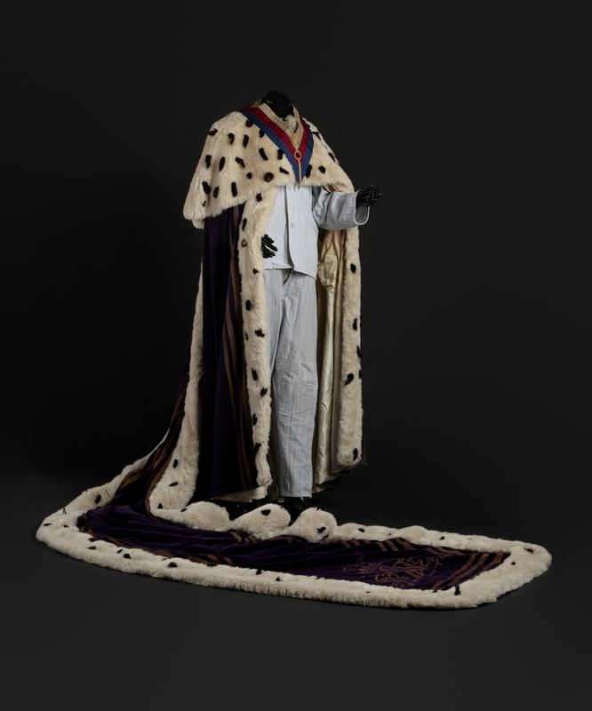 Costume worn by Geoffrey Rush in 'Exit The King', Malthouse Theatre, 2007 Designed by Dale Ferguson Gift of Malthouse Theatre, 2011 Performing Arts Collection, Arts Centre Melbourne