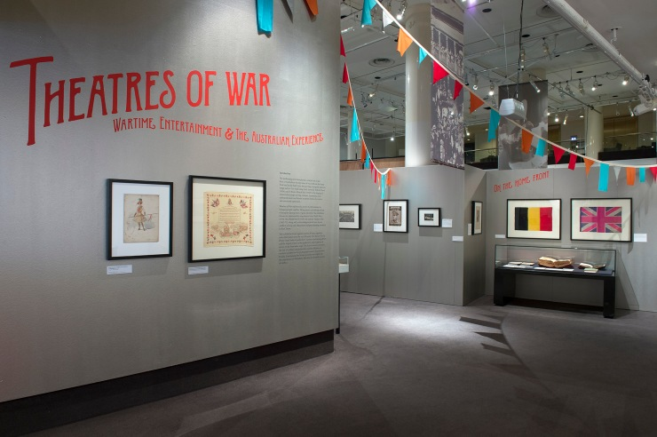 Theatres of War: Wartime Entertainment & the Australian Experience, Gallery I, Arts Centre Melbourne. Photo by Carla Gottgens