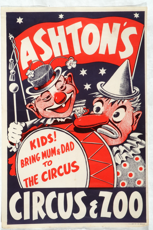 Poster for Ashton's Circus Performing Arts Collection, Arts Centre Melbourne