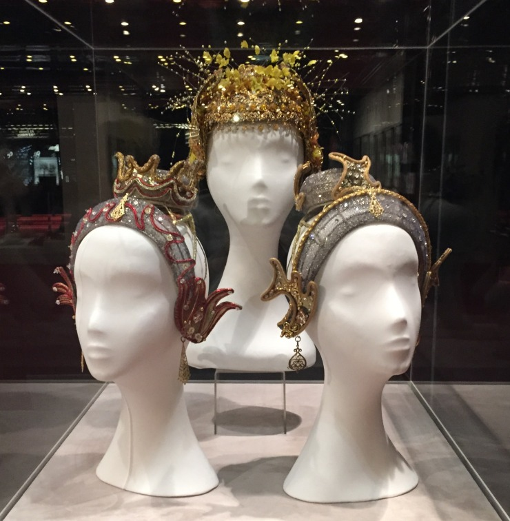 Fairy headdresses for Fire, Canari and Water in The Sleeping Beauty, The Australian Ballet, 2005