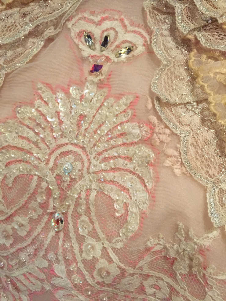 Detail of costume for Aurora in The Sleeping Beauty, The Australian Ballet, 1984 Designed by Hugh Colman Realised by The Australian Ballet Production Division