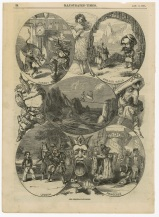 """British Christmas pantomimes in the """"Illustrated Times"""", 1862. [1989.100.063] Performing Arts Collection, Arts Centre Melbourne."""