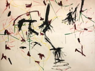 Interaction, 1967, John Peart (1945 – 2013), synthetic polymer paint on canvas. Donated by the family of Professor John Hopkins, 2016. Arts Centre Melbourne, Art Collection