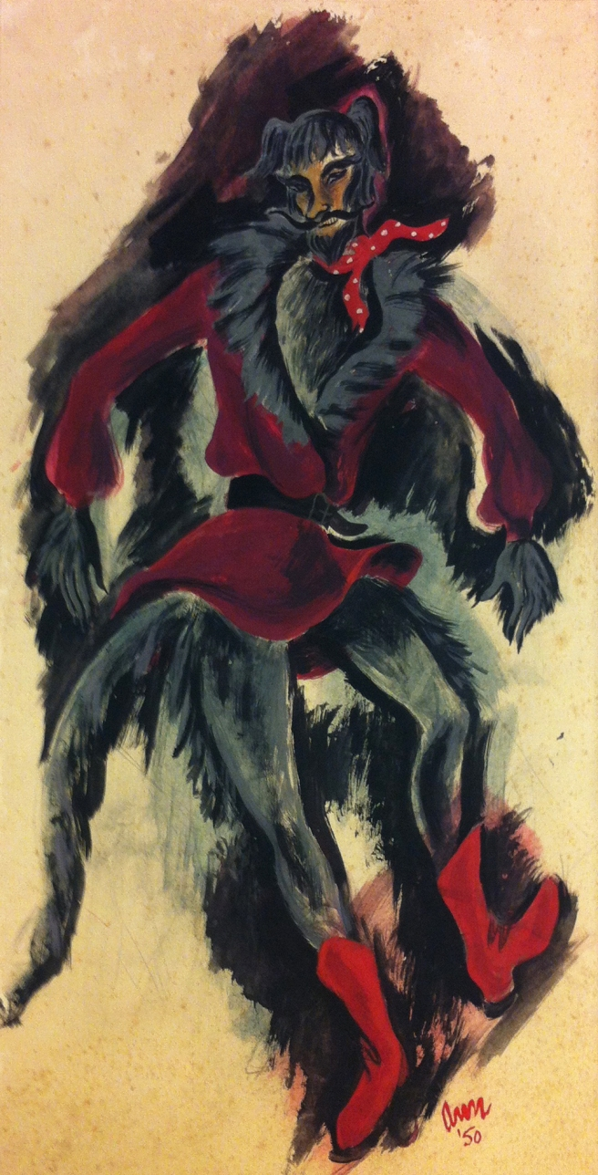 Costume designs by Ann Church for Peter and the Wolf (1949) National Theatre Ballet. Gift of the Estate of Ann Church, 2017 Arts Centre Melbourne, Performing Arts Collection. Reproduced courtesy of Mrs Collins.